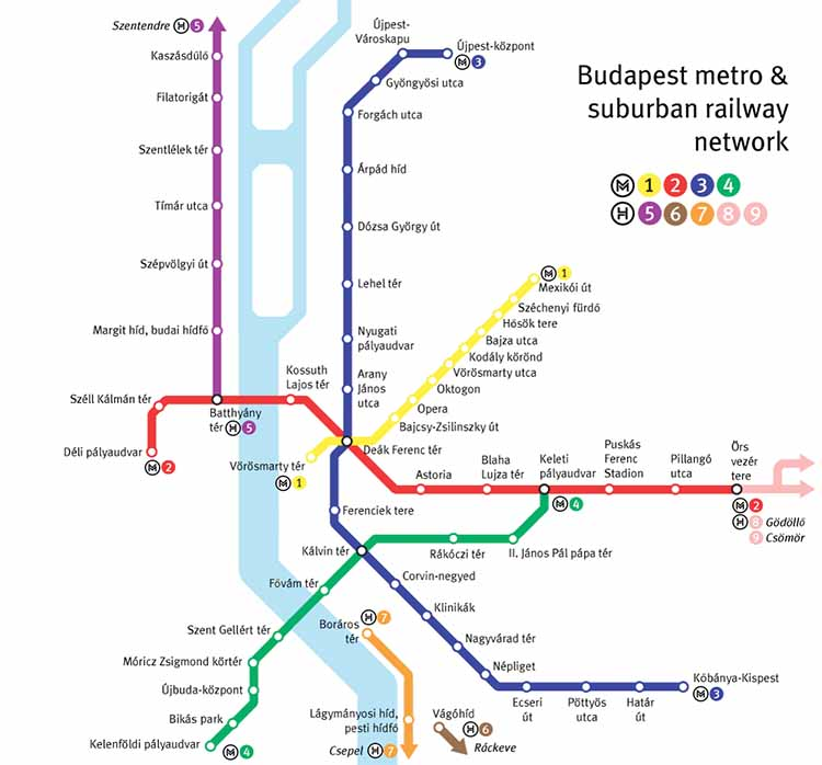 metrokaart boedapest