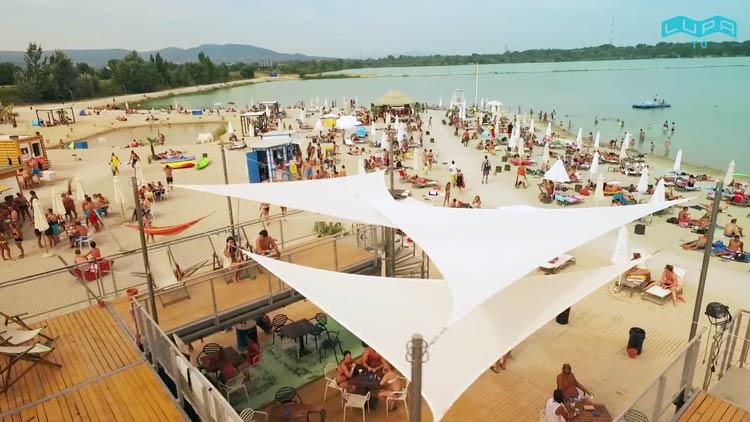 lupa strand boedapest