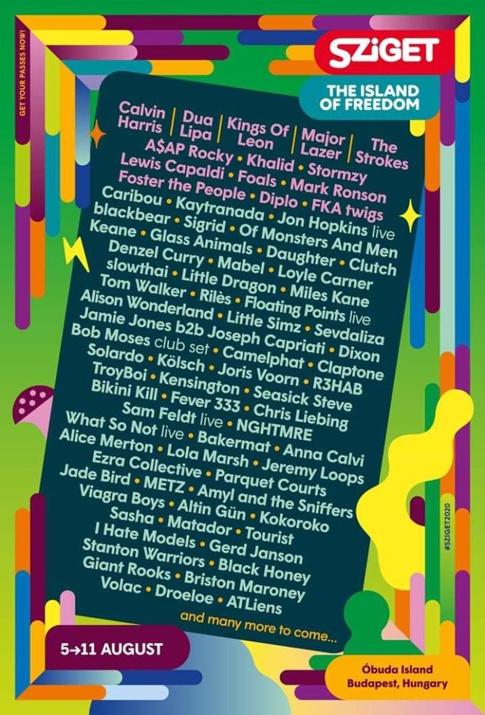 sziget festival 2020 lineup